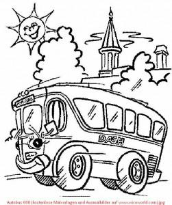 Autobus 008 (kostenlose Malvorlagen und Ausmalbilder auf www_wicoworld_com)